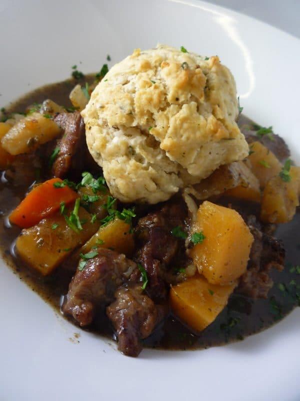 Beef & Ale Stew and Dumplings